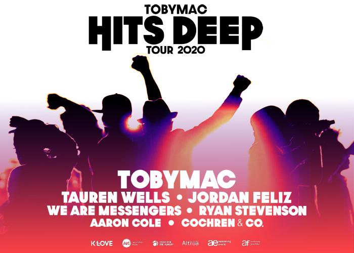 TobyMac Hits Deep Tour 2020 with Tauren Wells, Jordan Feliz, We Are Messengers, Ryan Stevenson, Aaron Cole and Cochren & Co.